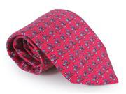 Vineyard Vines Martini And Cigar Tie Raspberry Red Colorful Silk Necktie New