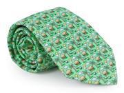 Vineyard Vines Tie Cheeseburger in Paradise Green Silk Mens Necktie New