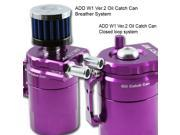 ADD W1 Pupple Baffled Universal Aluminum Oil Catch Tank Can Reservoir Tank Ver.2