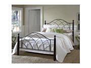 Hillsdale Furniture Vista Bed Set Queen Rails not included Silver Black 1764BQ