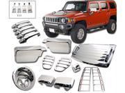 06-10 Hummer H3 Tail Light Mirror Handle Antenna Intake Cover Trim ABS Chrome