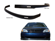 05-06 Toyota Corolla Mg Polyurethane Front Bumper Lip Spoiler Bodyki
