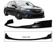 09-11 Acura Tsx Polyurethane Black Front Bumper Lip Spoiler Bodykit