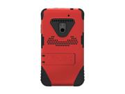 Red Black OEM Trident Kraken Hard Silicone Case W Screen Protector Kickstand & Holster For LG Revolution LG Esteem