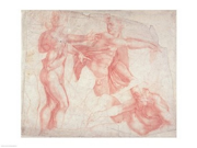 Studies of Male Nudes Poster Print by Michelangelo Buonarroti (24 x 18) 9SIA1S70FV5466