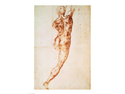 Nude, study for the Battle of Cascina Poster Print by Michelangelo Buonarroti (18 x 24) 9SIA1S70FW7031