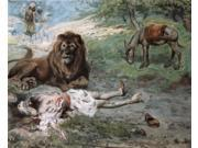 The Prophet Slain by the Lion, James Tissot (1836-1902 French), Jewish Museum, New York Poster Print (18 x 24)