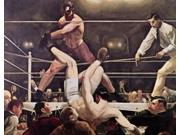 Dempsey and Firpo , George Bellows (1882-1925/American) Poster Print (18 x 24)