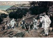 Jesus Healing the Lame and the Blind, James Tissot (1836-1902 French) Poster Print (18 x 24)