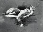 Nude Study (reclining female figure) Poster Print by Henry Tonks (18 x 24) 9SIA1S72737605
