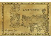 Game of Thrones Antique Map of Westeros & Essos Poster Print (36 x 24)