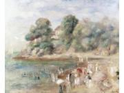 The Beach at Pornic, 1892, Pierre Auguste Renoir (1841-1919/French), Oil on Canvas, Private Collection Poster Print (18 9SIA1S73P98798