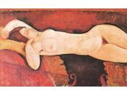Reclining Nude Le Grand Nu Poster Print by  Amedeo Modigliani  (12 x 18) 9SIA1S74635392