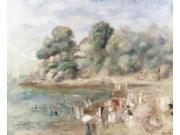 The Beach at Pornic, 1892, Pierre Auguste Renoir (1841-1919/French), Oil on Canvas, Private Collection Poster Print (18 9SIA1S726M2293