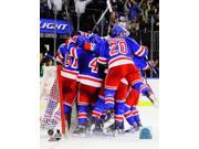 The New York Rangers celebrate after defeating the Montreal Canadiens in Game Six to win the Eastern Conference Finals of the 2014 NHL Stanley Cup Playoffs at M 9SIA1S74YJ4680