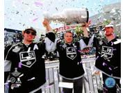 Jonathan Quick Dustin Brown & Anze Kopitar with the Stanley Cup Trophy during the Los Angeles Kings victory parade Photo Print (8 x 10) 9SIA1S74YJ7228