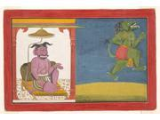 The Demon Hiranyaksha Departs the Demon Palace: Folio from a Bhagavata Purana Series Poster Print by Attributed to 9SIA1S72740058