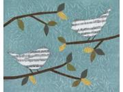 Aqua Songbirds II Poster Print by Jeni Lee (24 x 30) 9SIA1S75D11749