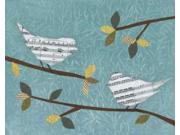 Aqua Songbirds I Poster Print by Jeni Lee (24 x 30) 9SIA1S75D63299