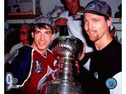 Joe Sakic & Patrick Roy with the Stanley Cup Championship Trophy Game 4 of the 1996 Stanley Cup Finals Photo Print (8 x 10) 9SIA1S75NE6965