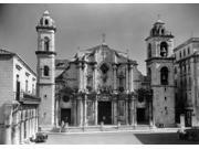 1930s-1940s Columbus Cathedral Built In 1777 Havana Cuba Poster Print By Vintage Collection (18 X 24)