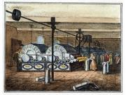 Textile Mill C1840 Nthe Carding Room In A New England Cotton Textile Mill Lithograph C1840 Poster Print by  (18 x 24)