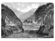 Canada Fraser River 1866 Nsuspension Bridge Over The Fraser River In British Columbia Canada Wood Engraving English 1866 Poster Print by  (18 x 24) 9SIA1S75RD5775