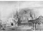 Turkey Hagia Sophia 1852 Nhagia Sophia And A Public Fountain In Istanbul Drawing 1852 By Chevalier Gaspard Fossati The Swiss Architect Who Renovated The Mosque