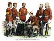 Canadian Mounties 1873 Nofficers Of The North West Mounted Police 1873 Pen-And-Ink Drawing By CW Jefferys Poster Print by  (18 x 24) 9SIA1S75RG1247