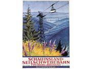 Travel Poster C1920 Ngerman Poster Advertising The Cable Car On The Schauinsland Mountain In The Black Forest Lithograph C1920S Poster Print by  (18 x 24)