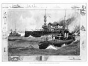 French Naval Ships 1902 Na French Battleship Cruiser And Submarine Illustration English 1902 Poster Print by  (18 x 24)