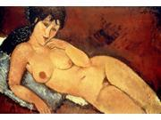 Modigliani Nude 1917 Nnude On A Blue Cushion Canvas By Amedeo Modigliani 1917 Poster Print by  (18 x 24) 9SIA1S75RD5470