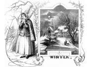 Winter Scene 1854 Nwood Engraving American 1854 Poster Print by  (18 x 24)