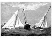 AmericaS Cup 1887 NThe Second DayS Race For The AmericaS Cup - The Start From The Flagship Electra On The Outside Course Line Engraving From A Contemporary Amer 9SIA1S75RF3958