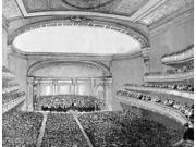 Nyc Carnegie Hall 1891 Nthe Interior Of Carnegie Hall At Its Opening In New York City May 1891 Contemporary American Line Engraving Poster Print by  (18 x 24)