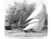 Yachting 1881 Nthe American Iron Sloop Mischief Besting The Canadian Atlanta In The First Leg Of The AmericaS Cup Race 9 November 1881 Line Engraving From A Con 9SIA1S75RG2990