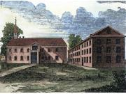 University Of Pennsylvania Nthe First Building (Left) On Fourth Street Philadelphia Of The College Academy And Charitable School Of Philadelphia (1753) Which Gr