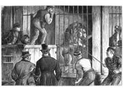 Menagerie Sale 1872 Ncatching The Lion At An Auction Sale Of A Menagerie In England Wood Engraving English 1872 Poster Print by  (18 x 24)