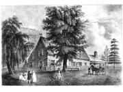 Bowne House 1661 Nthe Bowne House Built In 1661 By John Bowne At Flushing New York Soon Becoming A Quaker Refuge And Meetinghouse In Defiance Of The Ban Against