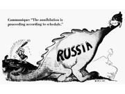 Invasion Of Russia Cartoon NCommunique The Annihilation Is Proceeding According To Schedule American Cartoon By Dr Seuss (Theodor Geisel) For Pm 6 August 1941 O