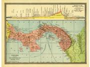 Map of Panama Showing Canal 1904 Poster Print by Science Source (24 x 18)