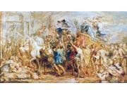 Henry Iv (1553-1610) Nking Of France 1589-1610 The Triumphal Entry Of Henry Iv Into Paris 1594 Oil On Wood C1630 By Peter Paul Rubens Poster Print by  (18 x 24) 9SIA1S75RE9887