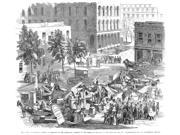 Chicago Illinois 1857 Nwood Engraving From An American Newspaper Of 1857 Poster Print by  (18 x 24)