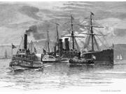New York Immigrant Ships Ntransferring Immigrants From Quarantined Ships In New York Harbor Wood Engraving American 1884 Poster Print by  (18 x 24) 9SIA1S75RD9802