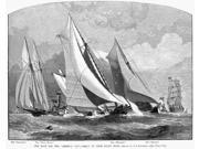 AmericaS Cup 1881 NThe Race For The America Cup - Coming Up From Sandy Hook Engraving From A Drawing By JO Davidson 1881 Poster Print by  (18 x 24) 9SIA1S75RF7024