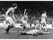 England Soccer Game 1977 Nstuart Peterson (Left) And Steve Coppell Of Manchester United Fc Congratulate Jimmy Greenhoff (On Ground) For Scoring The First Goal A 9SIA1S75RG4164