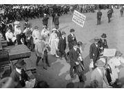 May Day Parade 1916 Nwomen And Men Marching At The May Day Parade As One Man Holds A Sign Promoting Socialism In New York City Photograph 1916 Poster Print by 9SIA1S75RN9636