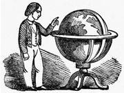 Globe 19Th Century Nline Engraving 19Th Century Poster Print by  (18 x 24)