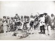 Pine Ridge Cattle 1891 Ntwo Lakota Sioux Men Skinning A Cow On The Pine Ridge Reservation In South Dakota 1891 Photographed By John CH Grabill Poster Print by 9SIA1S75RJ3900