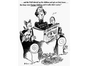 Cartoon World War Ii NAnd The Wolf Chewed Up The Children And Spit Out Their BonesBut Those Were Foreign Children And It DidnT Really Matter American Cartoon By